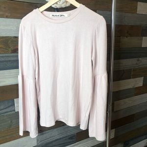 Michael Stars Madison Jersey Bell Sleeve Top NWT
